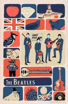 Beatlemania 11x17 Poster Print The Beatles Rocky by papersparrow
