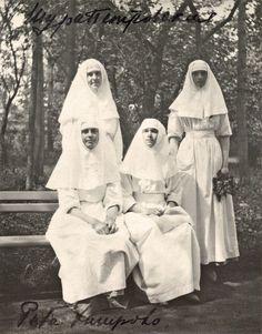 Aleksandra Alexandrovna Petrovskaya, Margarita Sergeevna Khitrovo, Olga and Tatiana in the Park, June 1916