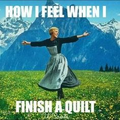 """Happy Monday! We hope you have that """"just finished a quilt"""" feeling all week!  #quilt #quilts #quilting #sew #sewing #fabric #fabrics by fatquartershop"""
