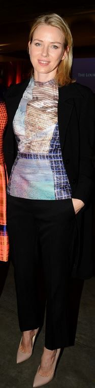 Who made  Naomi Watts' print top?