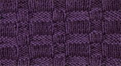 Wide Basket - Knittingfool Stitch Detail