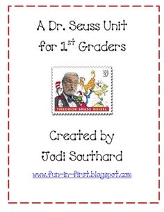 This unit focuses on some of Dr. Seuss's most popular books.  It includes reading and writing activities.