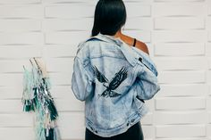 Vintage Customized Levi's jacket as Seen at the Knot Offices: (http://racked.com/archives/2014/08/26/the-knot.php)