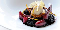 Wintry desserts can be thin on the ground but this spectacular recipe from Gary Jones produces a warming dessert, complete with a dollop of cinnamon ice cream desserts, Mulled Winter Fruits Recipe - Great British Chefs Winter Desserts, Christmas Desserts, Fruit Recipes, Dessert Recipes, Recipies, Oreo, Cinnamon Ice Cream, Caramel, Great British Chefs