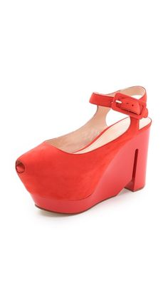 These are so weird that I just love them...Calvin Klein Collection Ray Platform Sandals