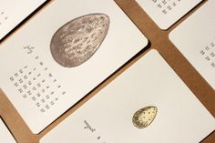 milk letterpress calendar