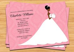 African American Bridal Shower Invitation by eventfulcards on Etsy https://www.etsy.com/listing/76464868/african-american-bridal-shower