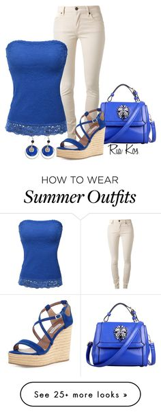 """""""summer outfit"""" by ria-kos on Polyvore featuring Relaxfeel, Burberry, Doublju, Tabitha Simmons, LogoArt, women's clothing, women, female, woman and misses"""
