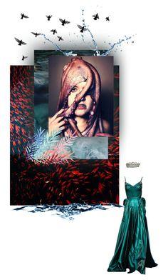 """OCEAN"" by melekceks ❤ liked on Polyvore featuring moda y Zac Posen"