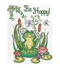 Frog Be Hoppy Cross Stitch Pattern