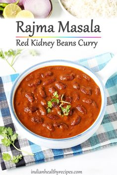 Rajma recipe Rajma recipe is a delicious dish made by simmering red kidney beans in a spicy onion tomato gravy. Serve it with rice, roti or naan. Indian Veg Recipes, Lentil Recipes, Bean Recipes, Curry Recipes, Indian Beans Recipe, Rajma Recipe Easy, Rajma Curry Recipe, Dosa Recipe, Rajma Recipe Punjabi