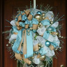 SHABBY CHIC CHRISTMAS Wreath by decoglitz on Etsy