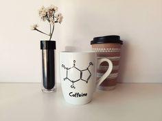 DIY caffeine molecule mug