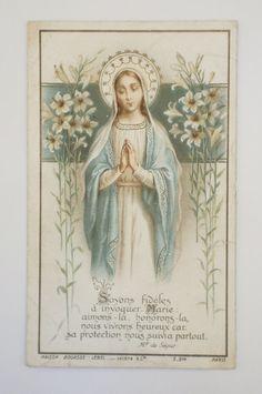 French Antique Prayer Card