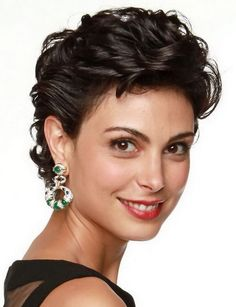 Morena Baccarin - beautiful celebrity actress female face portrait photo #headshot (one of best, most glamorous short hairstyles I've ever seen) #shorthair #glamshot