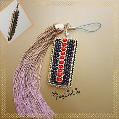 Double sided keychain ||| Двухсторонний вышитый бисером брелок  #embroidery #beads #Keychain #брелок #вышивка #бисер #ビーズ刺繍