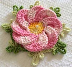 Flor BERGAMOTA - Passo a passo -->> http://www.croche.com.br/flor-bergamota-passo-a-passo/