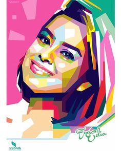 @evacelia in wedha's pop art portrait.  #wpap #vector #art #popart #indonesia  #opparudy #illustration #colorful  #reason #frame . . . . . . .  #artdigital