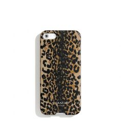 The Iphone 5 Case In Madison Ocelot Print from Coach