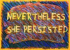 """It's Auction Time in the studio! I am making a drawing each day in November and posting it for auction. The bidding on today's """"Nevertheless She Persisted"""" starts at just $15 and the BUY NOW is just $25! Enter your bids now at: http://ift.tt/2y02Hr3 #drawingaday #artaday #artauction #neverthelessshepersisted #resist #resistanceart #pin #bztatart"""