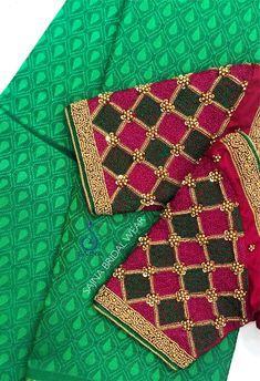 To get your outfit customized visit us at Chennai, Vadapalani or call/msg us at 919094871467 for appointments, online order and further details . Cutwork Blouse Designs, Simple Blouse Designs, Stylish Blouse Design, Bridal Blouse Designs, Traditional Blouse Designs, Simple Embroidery Designs, Hand Work Blouse Design, Designer Blouse Patterns, Hand Designs