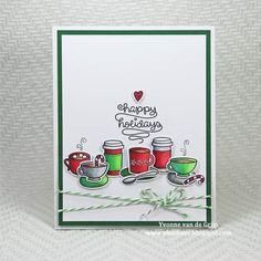 Coffee Christmas Card by Yvonne van de Grijp for Scrapbook Adhesives by 3L (Coffee Lovers Blog Hop Winter 2017)