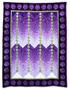 """Crocus Pocus"" by Laura Yellen Catlan, quilted by Jackie Kunkel.  Empire Quilters Guild.  A French Braid quilt, 55"" x 71""."