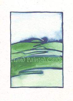 gouache on cardstock. Shipping rate is for up to 5 items in. Art Cards, Hand Painting Art, Paint Designs, Gouache, Card Stock, Envelope, Hand Painted, Landscape, Handmade