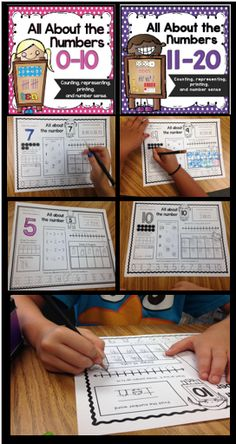A great resource for practicing numbers 1-10 and 11-20. $