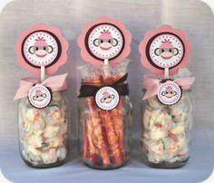 Pink Sock Monkey Table Toppers by LittleMonsterHugs on Etsy, $6.00