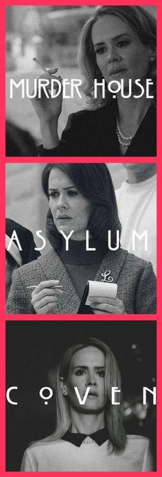 Sarah Paulson // American Horror Story: Murder House // Asylum // Coven
