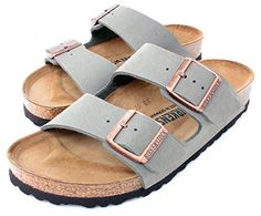 Arizona Womens 2Strap Cork Footbed Sandals Stone BirkoFlor Birkenstock 39 M EU  885 US Women -- Continue to the product at the image link.