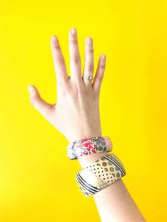 colourful diy washi tape bangles, these are so cute! - source
