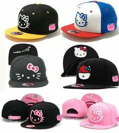 AAAwholesaler : Buy new new 2014 fashion spring summer hello kitty cartoon baseball caps for adult woman snapback hats for women on AAAwhol...