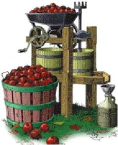 One apparatus to Press Apples into Cider -