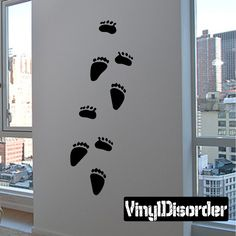 Animal Tracks Wall Decal - Vinyl Decal - Car Decal - DC040