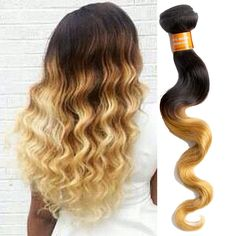 New Fashion 50g Body Wave 1b27# Ombre Indian Reral  Human Hair Extensions Wefts #WIGISS #bodywave