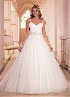 Buy discount Stunning Tulle Sweetheart Neckline Natural Waistline Ball Gown Wedding Dress at Dressilyme.com