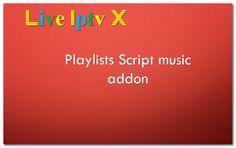 Playlists Script music addon