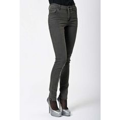 Womens Cheap Monday Tight Skinny Jeans - 45 Min Grey ($54) ❤ liked on Polyvore