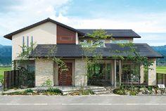 Japan Modern House, Japan House Design, Sims House Design, D House, House Roof, Facade House, Minimal House Design, Sweet Home Design, Dream House Exterior