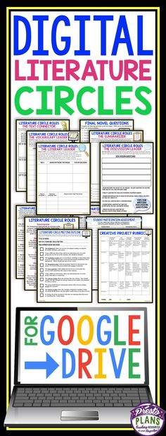 This multi-faceted paperless resource will bring your literature circles into the digital age. All of the handouts, assignments, projects, etc. are all shared and completed online in preparation for the in-class literature circle meetings! All of the work is created with Google Slides and Google Docs and can easily be shared with Drive or Google Classroom.
