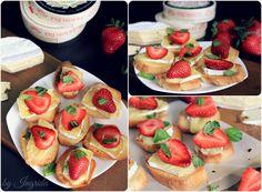 Strawberry & Basil Camembert Crostini