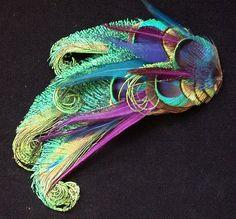Wildspirits peacock fascinator for my wedding