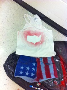 how-to american flag shorts and shirt for under ten dollars. (this belongs to meredith)