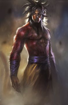 Dragonball Z realistic art  | realistic super saiyan four Goku, looking like a legendary should be ...