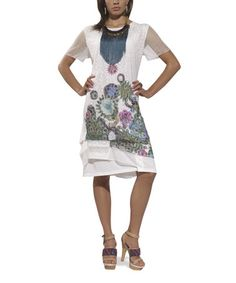 Love this White Mesh Floral Shift Dress - Women & Plus by Love The Queen on #zulily, $59 !!  #zulilyfinds