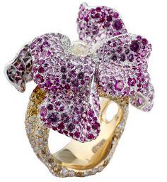 CINDY CHAO The Art Jewel purple sapphire and diamond save by Antonella B. Rossi