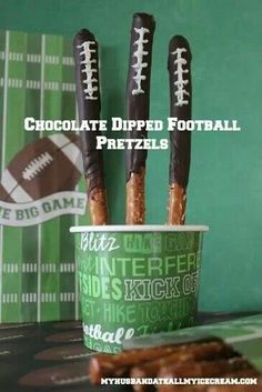 Game day chocolate covered pretzels!