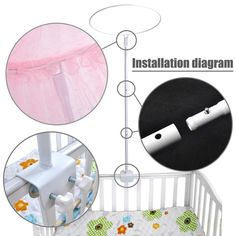Baby Bedding Original Baby Bedding Crib Netting Folding Baby Mosquito Nets Bed Mattress With Foldable Bracket Numerous In Variety